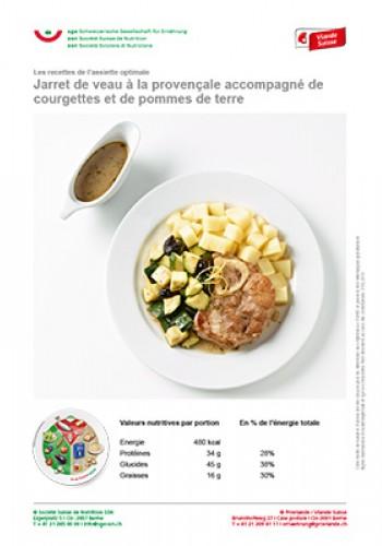 Jarret de veau à la provençale accompagné de courgettes et de pommes de terre