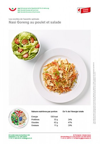 Nasi Goreng au poulet et salade