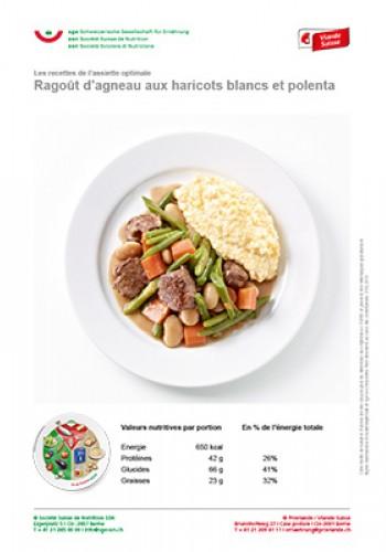 Ragoût d'agneau aux haricots blancs et polenta