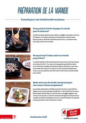 Préparation de la viande - Conseils pour une viande tendre et juteuse