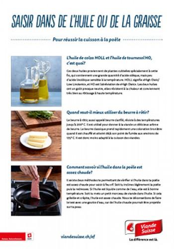 Saisir dans de l'huile ou de la graisse